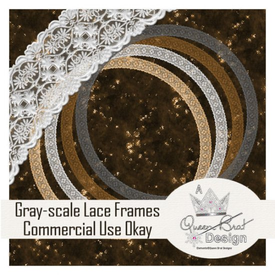 Gray-scale Lace Frames