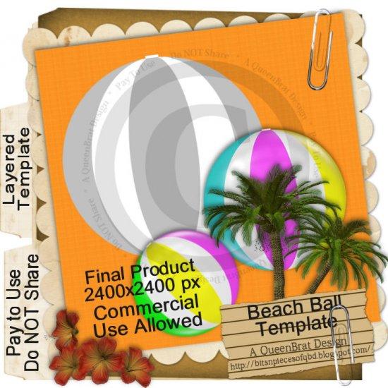 Beach Ball Template