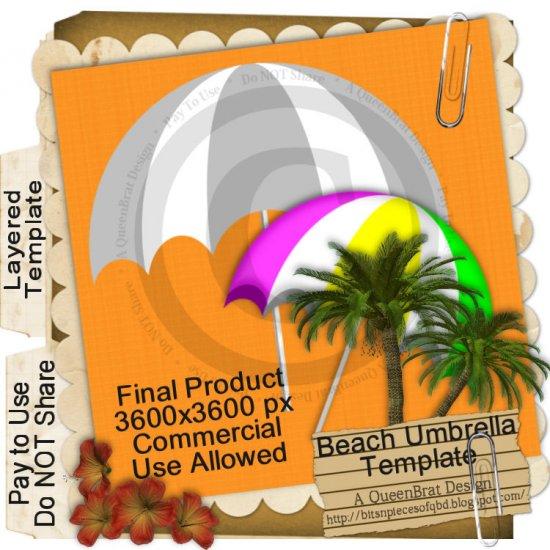Beach Umbrella Template