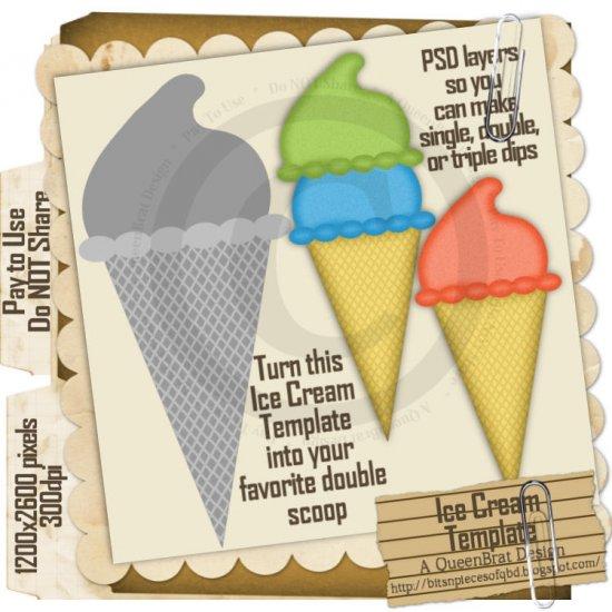 Ice Cream Template