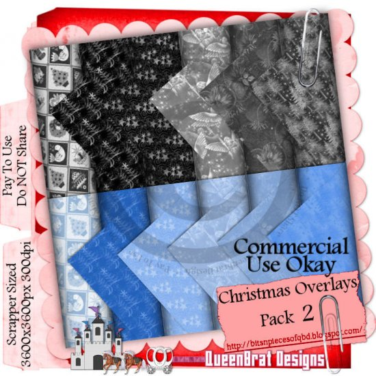 Christmas Overlays 2009 Scrappers Pack 2