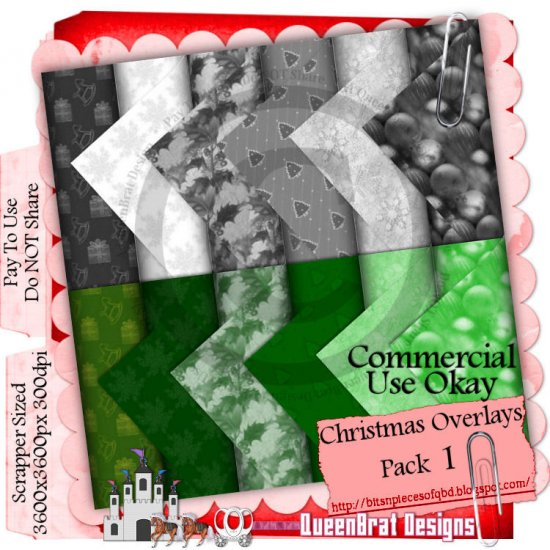 Christmas Overlays 2009 Scrappers Pack 1