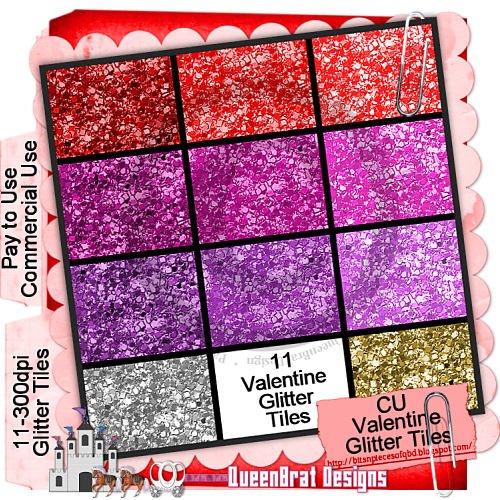 Valentine Glitter Tiles