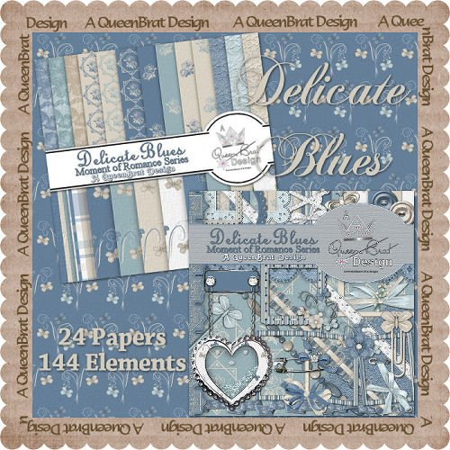 Delicate Blues Scrappers Kit