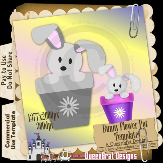 Bunny Flower Pot Template