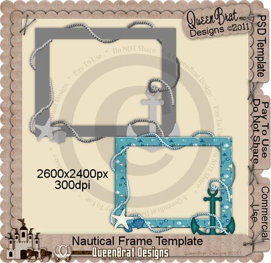 Nautical Frame Template