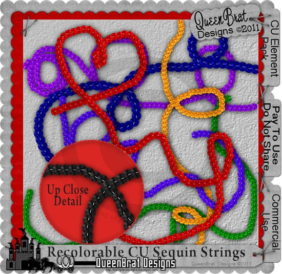 Recolorable Sequin Strings