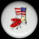 PATRIOTIC LADYBUG ~ Ceramic Knobs Pulls