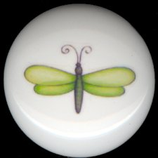 DRAGONFLY #1 ~ Ceramic Knobs Knob Pulls