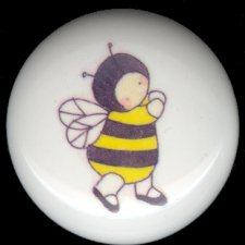 BABY BUGS Ceramic Knobs Pulls ~ BUMBLE BEE