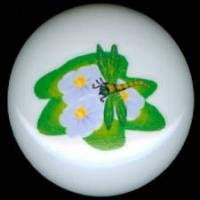 DRAGONFLY on a LILLY PAD Ceramic Drawer Knobs