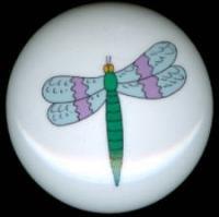 DRAGONFLY Dragon Fly #7 Ceramic Drawer Knobs
