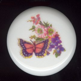 Victorian Butterfly 1 Ceramic Knob KNOBS