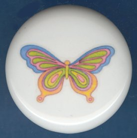 Psychedelic  Butterfly 2 Ceramic Knobs Pulls