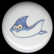 Whimsical Sea Life MANTA RAY Mantaray Ceramic Knob KNOBS