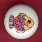 Whimsical FISH #1 Ceramic Knob KNOBS