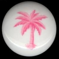 Pink PALM TREE Tropical Decor CERAMIC KNOB Knobs Free S/H