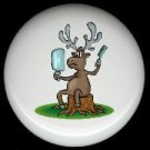 Rustic Lodge Decor - MOOSE #4 ~ Ceramic Knobs Pulls