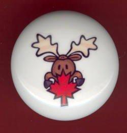 Rustic Lodge Decor - MOOSE #6 ~ Ceramic Knobs Pulls