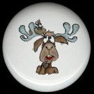 Rustic Lodge Decor - MOOSE #7 ~ Ceramic Knobs Pulls