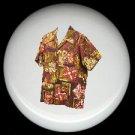 Tropical HAWAIIAN SHIRT #6 Ceramic Knobs Pulls Free S/H