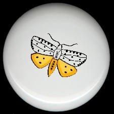MOTH #1 Ceramic Drawer Knobs Pulls FREE S/H