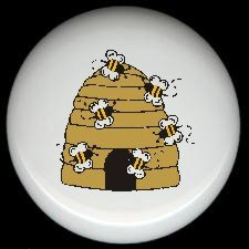 Bumblebee BEE HIVE #3 ~ Ceramic Drawer Knobs Pulls FREE S/H