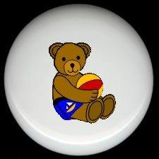 BEACHBALL BEAR #4 ~ Ceramic Knobs Pulls FREE S/H