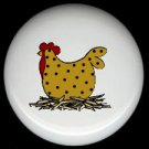 POLKA DOT CHICKEN  #1 Ceramic Drawer Knobs Pulls FREE S/H