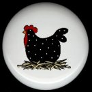 POLKA DOT CHICKEN  #2 Ceramic Drawer Knobs Pulls FREE S/H