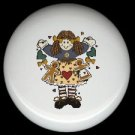 Prim RAG DOLL GINGERBREAD #3 Ceramic Drawer Knobs Pulls FREE S/H