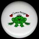 Whimsical FROG #2 Ceramic Drawer Knobs Pulls FREE S/H