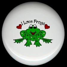 Whimsical FROG #2 Ceramic Drawer Knobs Pulls FREE S/H