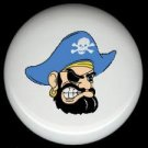SCOWLING PIRATE with Blue Hat  * Ceramic Drawer Knobs Pulls FREE S/H