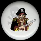PIRATE with SWORD & SKULL * Ceramic Drawer Knobs Pulls FREE S/H