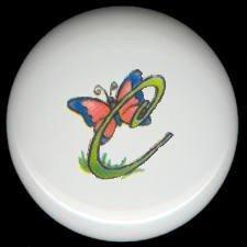 SPRING Alphabet LETTER C ~ Ceramic Drawer Knobs Pulls