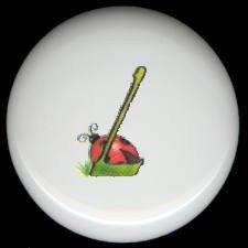 SPRING Alphabet LETTER L ~ Ceramic Drawer Knobs Pulls