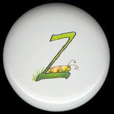 SPRING Alphabet LETTER Z ~ Ceramic Drawer Knobs Pulls