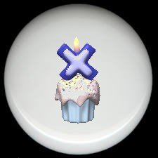 CUPCAKE CANDLE Alphabet LETTER X ~ Ceramic Drawer Knobs Pulls