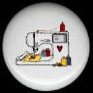 Sewing Quilting MACHINE ~ Ceramic Drawer Knobs Pulls FREE S/H