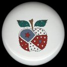 Sewing APPLE with QUILT PIECES ~ Ceramic Drawer Knobs Pulls FREE S/H