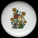 BIRDHOUSES Nestled Among FLOWERS Ceramic Knobs Pulls