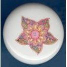 Psychedelic RETRO FLOWER #2 Ceramic Knobs Pulls