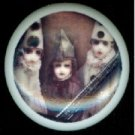 Halloween Zombie CHILDREN with CLOWN Caps Hats Ceramic Drawer Knobs