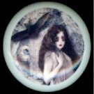Halloween SCARY ZOMBIE GIRL & Her BAT Ceramic Drawer Knobs