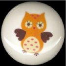 Adorable WHIMSICAL OWL #3 Ceramic Drawer Knobs Handle Pulls
