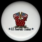 ALL AMERICAN CHICKEN #1 Ceramic KNOBS PULLS Knob