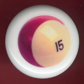 POOL BALL #15 Billiards Ceramic Drawer Knob Pulls