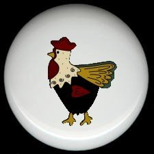 Farm COUNTRY ROOSTER Ceramic KNOBS PULLS Knob