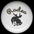 RODEO COWBOY on Bucking BRONCO Western Decor ~ Ceramic Knob Knobs